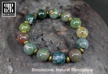 Natural Bloodstone Round Beads
