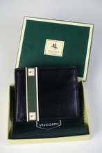 Visconti Multi Card Compact Leather Wallet (Black)
