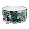 """Rogers Dyna-Sonic 6.5"""" x 14"""" Classic Snare Drum with Beavertail Lugs - Green Marine Pearl - 37GMP"""