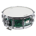 """Rogers Dyna-Sonic 5"""" x 14"""" Classic Snare Drum with Beavertail Lugs - Green Marine Pearl - 36GMP"""