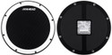 "Ahead - AHSHP - 14"" White/Black S-Hoop Marching Pad with Snare Sound (Black Carbon Fiber)"