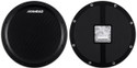 "Ahead - AHSHPB - 14"" Black/Black S-Hoop Marching Pad with Snare Sound (Black Carbon Fiber)"
