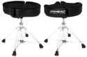 "Ahead - SPG-BL - 18"" Spinal G Saddle Black Cloth Top/Black Sides, 4 Leg Base"