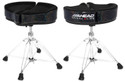 "Ahead - SPG-BS - 18"" Spinal G Saddle Black Cloth Top/Black Sparkle Sides, 4 Leg Base"
