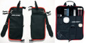 Ahead - SBSK - Ahead Plush Stick Case W/4 Extra Pockets (Black With Red Trim, Plush Interior)