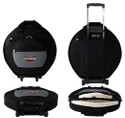 Ahead Bags DELUXE HEAVY DUTY CYMBAL CASE w/Wheels, Handles and Shoulder Strap