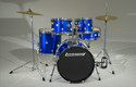 ACCENT DRIVE 5PC COMPLETE BLU, CYMBALS AND HARDWARE INCLUDED