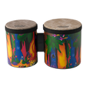 "Remo Drum, KIDS PERCUSSION¨, Bongos, 5""/6"" Diameters, Fabric Rain Forest"