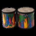 """Remo Drum, KIDS PERCUSSION¨, Bongos, 5""""/6"""" Diameters, Fabric Rain Forest"""