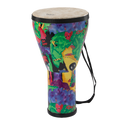 "Remo Drum, KIDS PERCUSSION¨, Djembe, 8"" Diameter, 14"" Height, Pre-Tuned, Fabric Rain Forest"