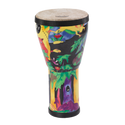 "Remo Drum, KIDS PERCUSSION¨, Doumbek, 6"" Diameter, 10"" Height, Fabric Rain Forest"