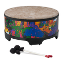 "Remo Drum, KIDS PERCUSSION¨, Gathering Drum, 16"" Diameter, 8"" Height, Fabric Rain Forest"