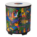 "Remo Drum, KIDS PERCUSSION¨, Gathering Drum, 18"" Diameter, 21"" Height, COMFORT SOUND TECHNOLOGY¨ Head, Fabric Rain Forest"