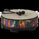 "Remo Drum, KIDS PERCUSSION¨, Gathering Drum, 22"" Diameter, 8"" Height, Fabric Rain Forest"