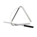"""Remo Kids Make Music Instrument, Triangle, 4"""" With Beater, Steel"""