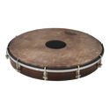 """REMO Tablatone Frame Drum, Tunable, SKYNDEEP¨ P3 Drumhead, 'Fish Skin' Graphic, Tablatone Dot, 12"""" x 2"""", Antique Brown And White Finish"""
