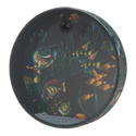 "REMO OCEAN DRUM¨, 12"" Diameter, 2 1/2"" Depth, Fish Graphic"