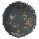 """Remo - OCEAN DRUM, 12"""" Diameter, 2 1/2"""" Depth, Fish Graphic - ET-0212-10-"""
