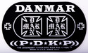 DANMAR DOUBLE KICK BASS DRUM IMPACT PAD- Iron Cross