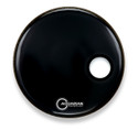 "Aquarian 18"" Small Off-Set Port Resonant Bass Drum Black SMPTCC18BBK"