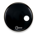 "Aquarian 18"" Regulator Off-Set Hole Bass Drum Gloss Black RSM18BK"