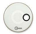 "Aquarian 16"" Regulator Off-Set Hole Bass Drum Gloss White RSM16WH"