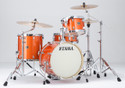 "Tama Superstar Classic 4pc 18""BD Jazz shell kit 14x18, 8x12, 14x14, 5x14 with single tom holder in Bright Orange Sparkle"