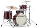 """Tama Superstar Classic 4pc 18""""BD shell kit 14x18, 8x12, 14x14, 5x14 with single tom holder in Classic Cherry Wine"""
