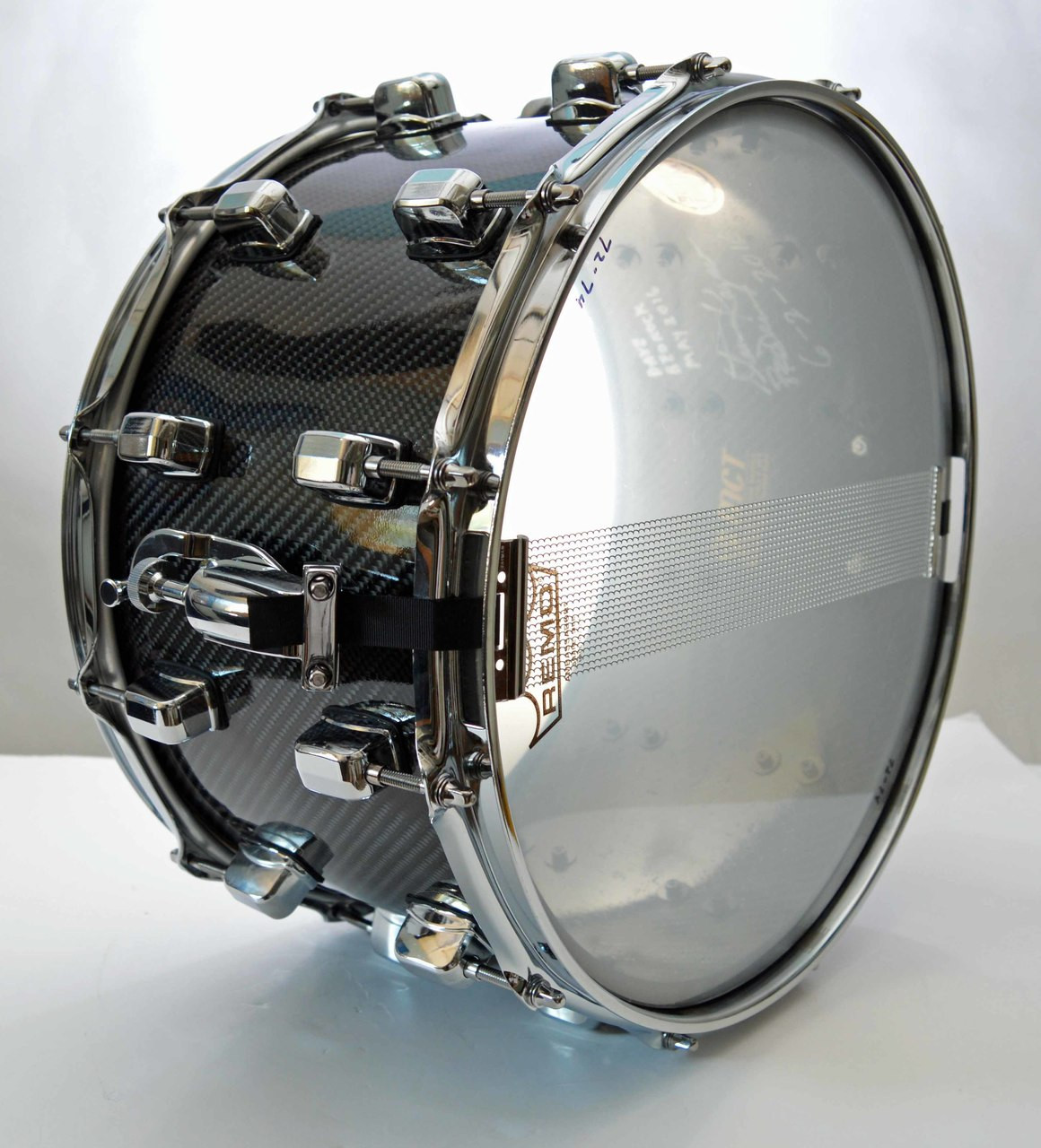 Superdrum 12 Carbon fiber 8x14 12 lug Snare Drum See and Hear on You ... 0cb06767992
