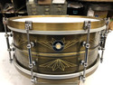 Q DRUMS 6X14 UNION BRASS SNARE DRUM Free shipping in the continental US only