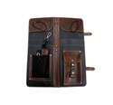 Ahead Bags - ALSCBR - Brown Handmade Leather Stick Case w/Drum Key Holder