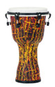"Pearl - 10"" Top Tuned Djembe in #697 Tribal Fire - PBJV10697"