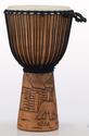 """Pearl - 12"""" Hand carved Mahogany Djembe - PBJWR12695"""