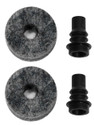 DW BARBED CYMBAL STEM W/ FELT (2 PACK)