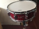 Rogers Dyna-Sonic 5x14 Wood Shell Snare Drum Red Onyx Beavertail - 36RO