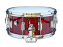 Rogers Dyna-Sonic 6.5x14 Wood Shell Snare Drum - Red Onyx  Beavertail - 37RO
