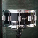 Rogers Dyna-Sonic 6.5x14 Classic Snare Drum - Black Gloss Lacquer w/BT Lugs - 37BKL
