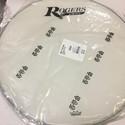 "Rogers Logo Resonant Bass Drum Head 22"" Coated White w/Large Logo - RBH22A-LOGO"