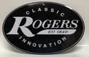 "Rogers Logo Metal Sign  12"" x 8"" Oval logo  - RA-RMLS"