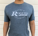 Rogers Dyna-Sonic T-Shirt, Heather Blue -Small - RTSS