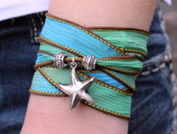 Starfish Ribbon Wrap Bracelet