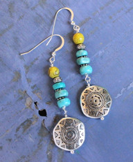 Blue Lemon Bohemian Earrings
