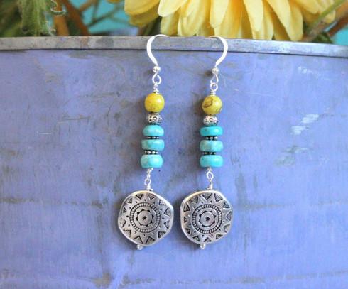 Blue Lemon Bohemian Earrings