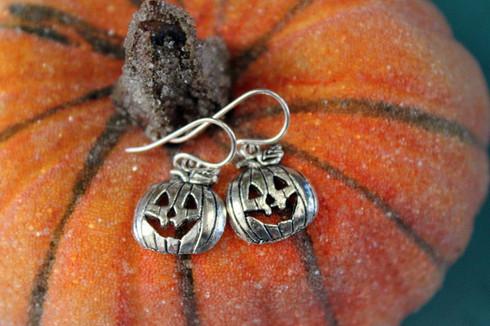 Pumpkin Jack O'Lantern Halloween Earrings