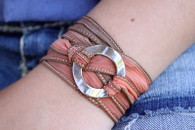 Circle Ribbon Wrap Bracelet Spell