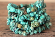 Green Turquoise Chip Stretch Bracelet