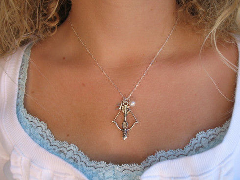 Katniss Bow and Arrow Necklace