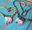 Amethyst Slice Bohemian Necklace
