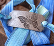 Butterfly Silk Ribbon Wrap Bracelet