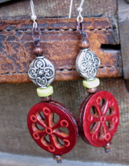 "Boho Leather Earrings ""Scarlett"""